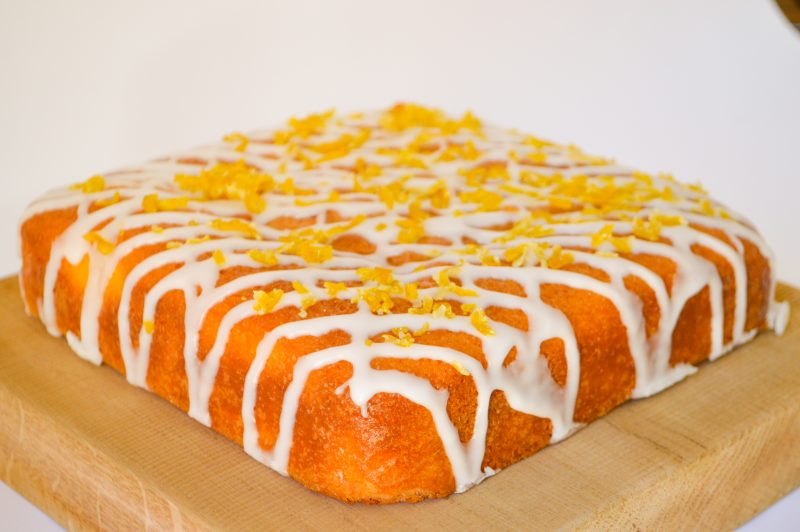 Gluten free lemon & honey drizzle cake