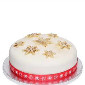 Iced Christmas cake, infused with brandy, moist and tasty.