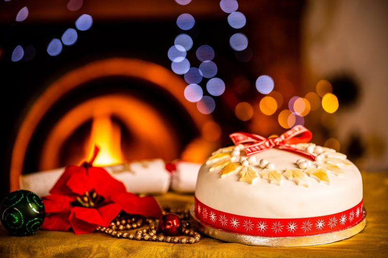 This Christmas enjoy a lovely Iced Christmas Cake from Bizzibeans