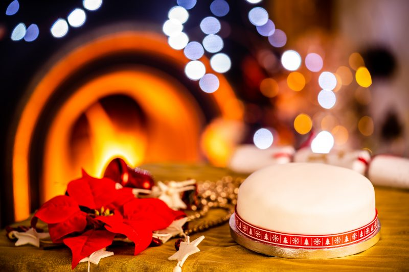 Enjoy a special christmas with a bizzibeans iced christmas cake