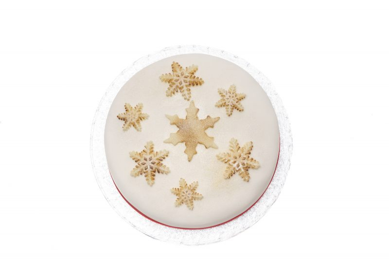 Iced christmas cakle for all the family, hand made in suffolk by bizzibeans