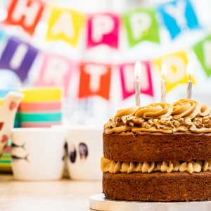 Coffee & walnut sponge cake for Birthday parties from Bizzibeans Cakes
